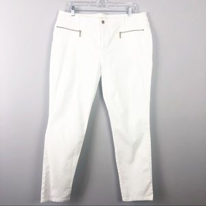 Michael Kors | White Pants with Gold Zippers